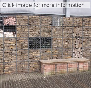 Brick Wall Behind Gabion Brick And Rock Filled Gabions ...