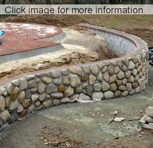 Insitu Curved Concrete Stone Wall ...