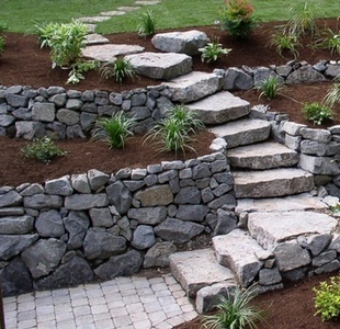gabion terraced retaining_walls dry stone retaining walls and steps modern corten steel retaining wall ideas - Retaining Walls Designs