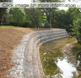 large river bank flood protection