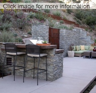 ... Limestone Garden Stone Wall Around Patio