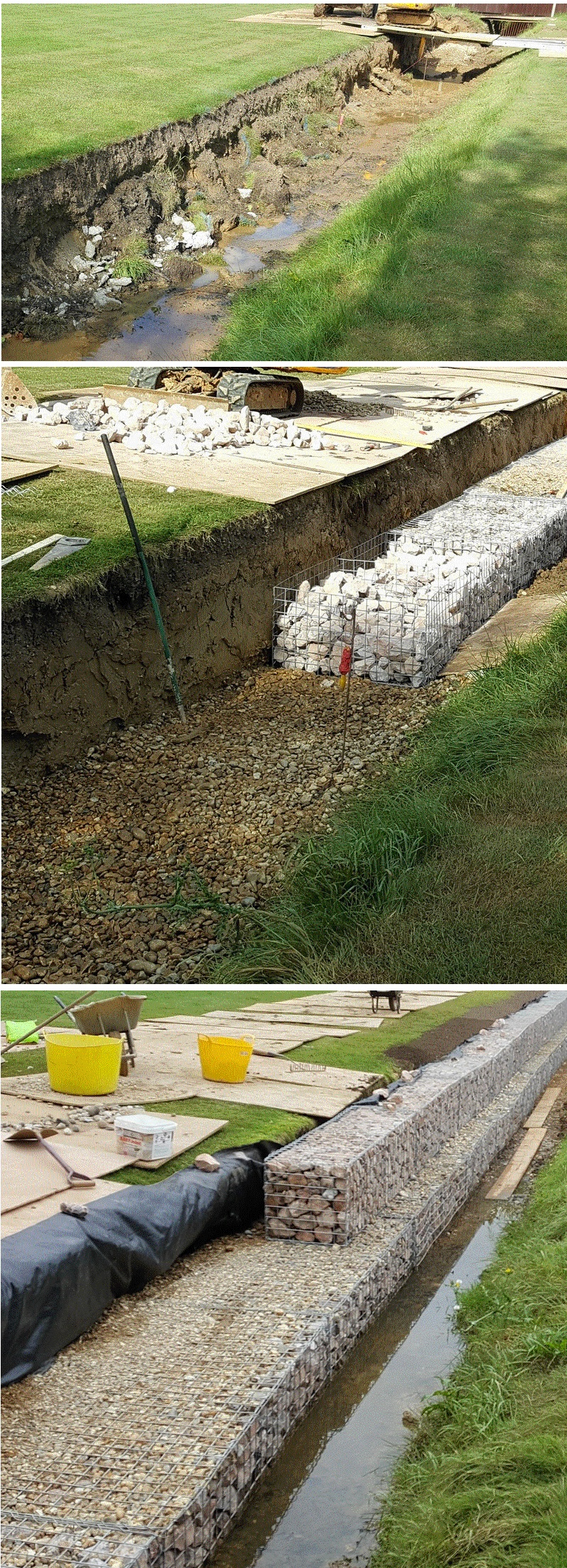 gabion foundation soft ground