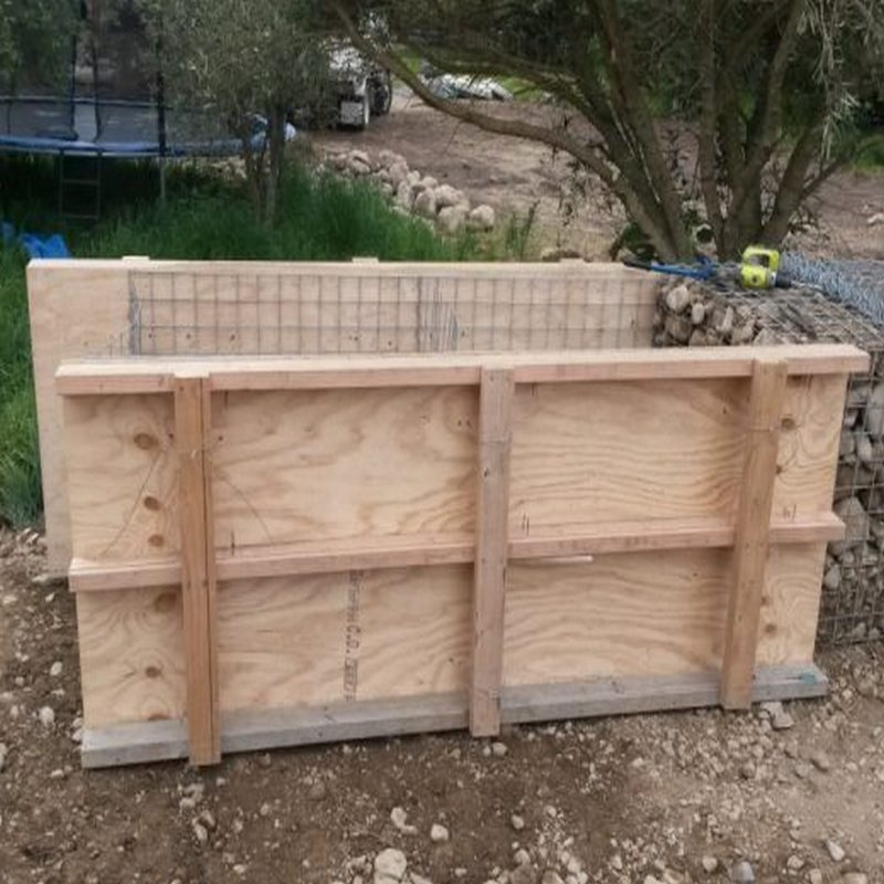 shuttering for gabion filling
